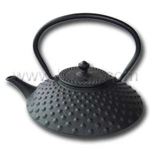 400ml cast iron teapot with hobnail pattern design