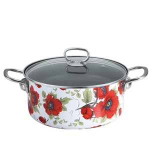 Enamel on steel sauce pot