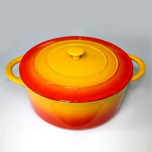 Enameled Round Cast Iron Oven, CR3013R