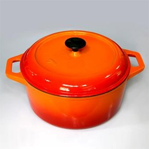 Round Enameled Oven In Orange, CR2813R