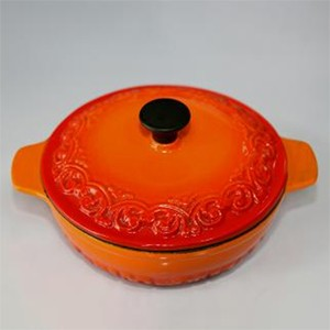 Round Casserole With Lid In Orange, CR1550R