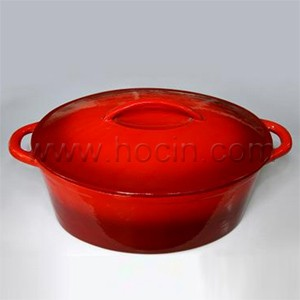 Oval Cast Iron Casserole With Lid, CO3814S