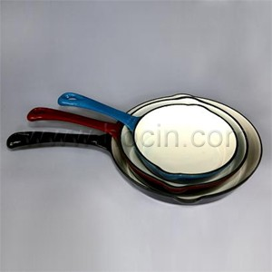 Round Enameled Cast Iron Frying Pan, CIPR2045