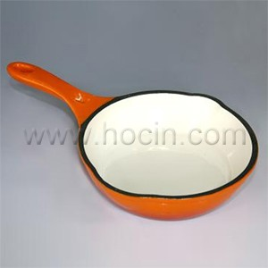 Round Enameled Cast Iron Frying Pan With Handle, CIPR2155