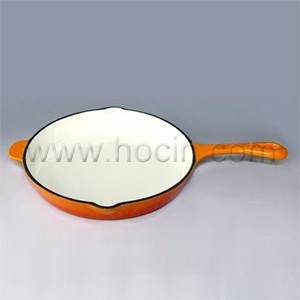 Round Enameled Cast Iron Skillet With Handle, CIPR2945SH