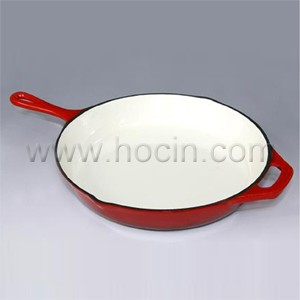 Round Enameled Cast Iron Frying Pan In Red, CIPR3360SH