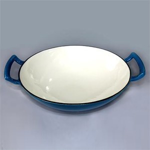 Enameled Cast Iron Wok, 83W2575S