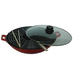 Enameled Cast Iron Wok, 83W3680SL