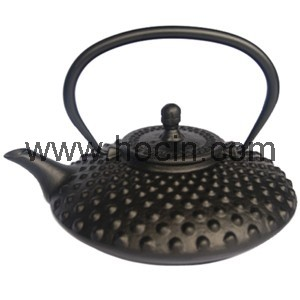 0.8 Liter cast iron hobnail teapot with s/s filter