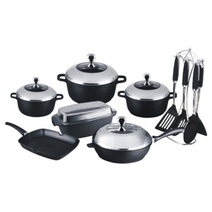 Forged Cast Aluminum Cookware Set, S5603