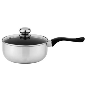Aluminum saucepan with tempered glass lid, 5205