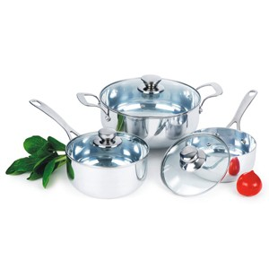 Mirror Polished Aluminum Cookware Set, S5624