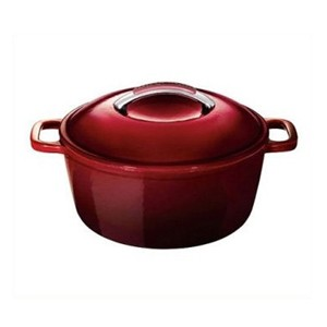 Round mini enameled cast iron casserole