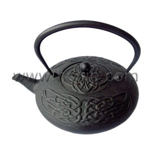 0.8 liter cast iron teapot with chinese kont design