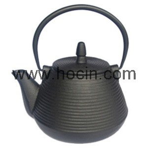 1 Liter cast iron teapot with pleasing circular pattern