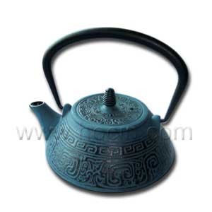 0.8 liter black tetsubin with traditional chinesae pattern