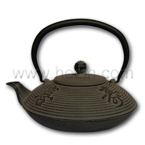 1.15 liter cast iron teapot with Fu Lu Shou Xi characters design