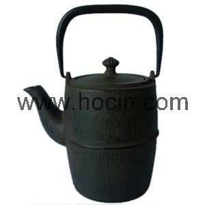0.9 Liter brown rust cast iron teapot